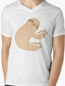 Sloth Mens V-Neck T-Shirt