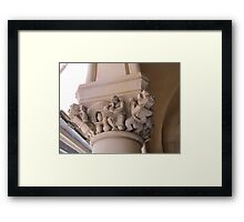 Stone Carvings at the National Cathedral Washington D.C Framed Print