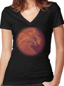 Sunset on the Plains Women's Fitted V-Neck T-Shirt