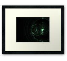 Abstract Green Energy Fractal Framed Print