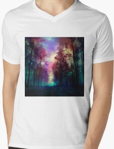 Magical Forest Mens V-Neck T-Shirt