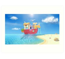 The Go Anywhere Boat Art Print