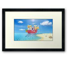 The Go Anywhere Boat Framed Print