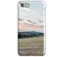 summer evening in the italian countryside iPhone Case/Skin