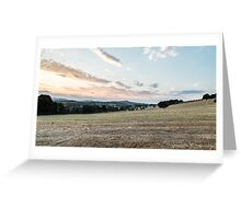 summer evening in the italian countryside Greeting Card