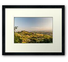 evening in the fields Framed Print