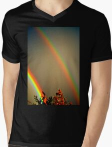 Double Rainbow Mens V-Neck T-Shirt