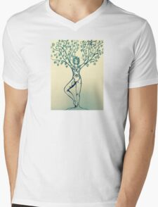 Tree pose Mens V-Neck T-Shirt