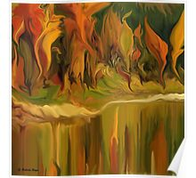 Autumn leaves ~ Abstract 28- wall art Art + Products Design  Poster