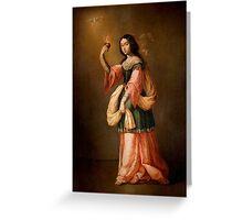 Francisco de Zurbarán Allegory of Charity, Greeting Card