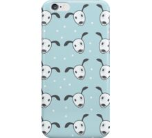 Seamless pattern of fancy simple puppy dog faces. For kids iPhone Case/Skin