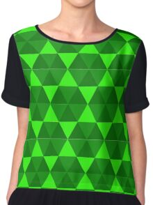 Green Hex Chiffon Top