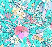 Pretty Pastel Hawaiian Hibiscus Print by micklyn