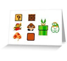 Mario bloc Greeting Card