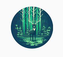 Deer Forest Landscape - blues Unisex T-Shirt