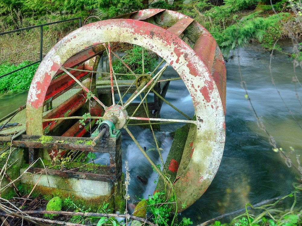 Old Water Wheel by Stephen Frost