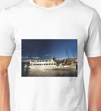 The Swan Steamer at Bowness on Windermere, Lake District Unisex T-Shirt