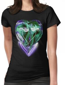 Love is Blue- Abstract  Art + Products Design  Womens Fitted T-Shirt