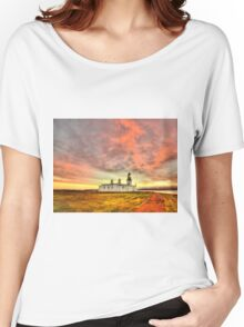 Lighthouse at Chanonry Point, Black Isle, Scotland Women's Relaxed Fit T-Shirt
