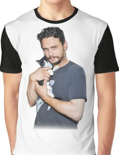 James Franco's Cat Graphic T-Shirt