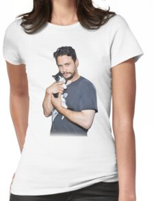 James Franco's Cat Womens Fitted T-Shirt
