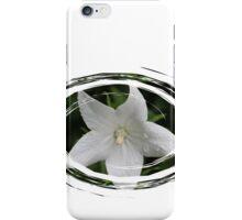 White Flower in a Green Swirl iPhone Case/Skin