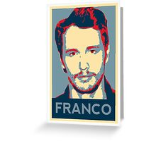 Vote For Franco Greeting Card