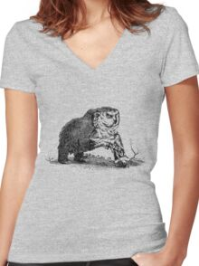 Medieval Owlbear Women's Fitted V-Neck T-Shirt