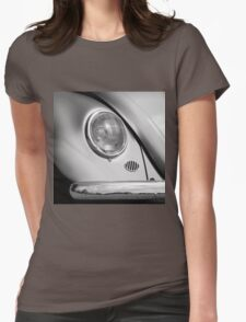 Monochromatic ~ Black & White VW Beetle image Womens Fitted T-Shirt