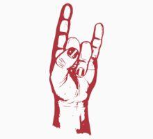 Metal Horns (small logo) One Piece - Short Sleeve