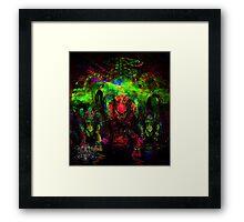 Deep Sea Psychedelia Framed Print