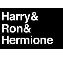 Harry Potter - Harry Ron Hermione Photographic Print