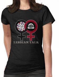 Lesbian Talk Logo (New) Womens Fitted T-Shirt