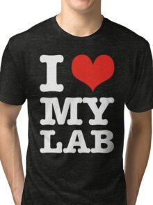 I Love My Lab (black) Tri-blend T-Shirt