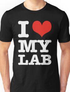 I Love My Lab (black) Unisex T-Shirt