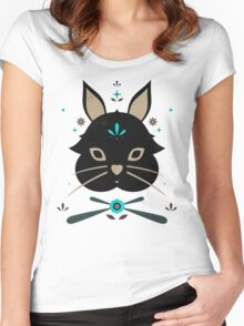 Black Bunny Women's Fitted Scoop T-Shirt