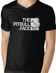 THE PITBULL FACE Mens V-Neck T-Shirt