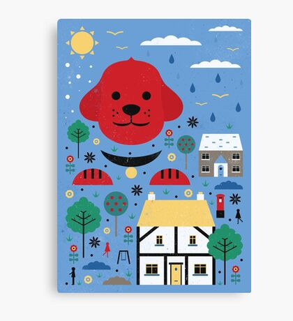 Big Clifford Canvas Print