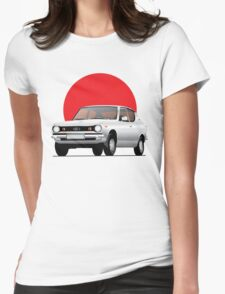 Datsun 100A (1000 / Cherry) illustration Womens Fitted T-Shirt