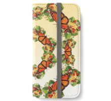 Monarch with Strawberries on Buttercream iPhone Wallet/Case/Skin