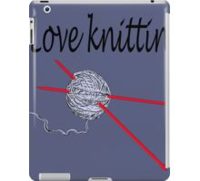 Love knitting - gray background iPad Case/Skin