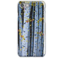 Ten Cardinals In Birch Trees iPhone Case/Skin