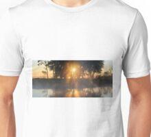 Hazy River Panorama Unisex T-Shirt