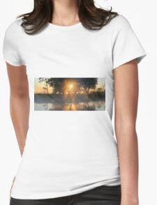 Hazy River Panorama Womens Fitted T-Shirt