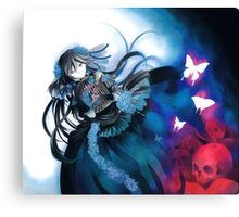 Skull & Butterflies (Pandora Hearts Manga) Canvas Print
