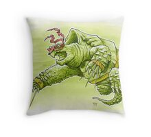 Fighting Turtle Throw Pillow
