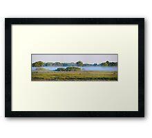 The Blue Marsh Framed Print