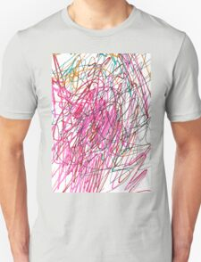 Pink Scribble (Gym) Unisex T-Shirt