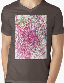 Pink Scribble (Gym) Mens V-Neck T-Shirt