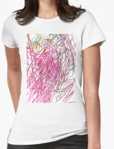 Pink Scribble (Gym) Womens Fitted T-Shirt